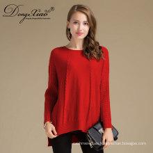 Long Sleeves Cashmere Pure Orange Girls Corea Knit Sweaters Design
