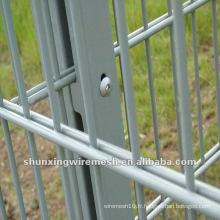Usine de clôture en double doublure en PVC