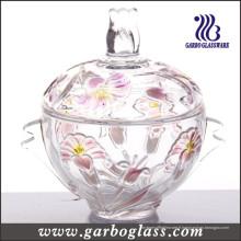 Pot de chocolat en verre coloré (GB1805LB / P1)