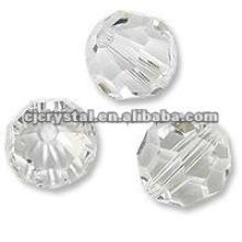 Klare Kristallperlen, runde Kristallperlen