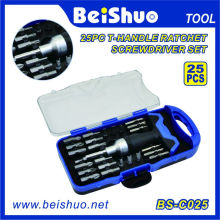 25PC T-Handle Ratchet Screwdriver Set