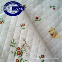 100 Cotton printed CVC jacquard interlock fabric for sleepwear or baby cloths