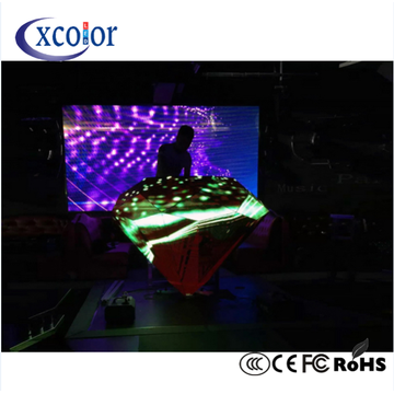 Stage background DJ Curvo cabina LED