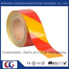 PET-Werbung Grade Warnung Sicherheit Vorsicht Streifen selbstklebende reflektierende Folie (C1300-S)