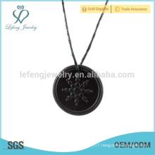 High quality quantum pendant,black pendant jewelry,round pendant design