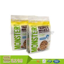 Le bloc d'emballage alimentaire de casse-croûte rescellable fait sur commande de glissière latéral d'ordre de catégorie comestible a fond des sachets en plastique