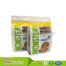 Sacos de plástico Ziplock Resealable do bloco de alimento do petisco Resealable lateral do produto comestível