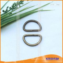Boucles métalliques en métal de 20 mm, régulateur métallique, anneau en D en métal KR5055