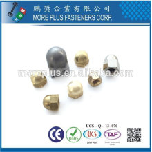 Taiwan Acier inoxydable 18-8 Acier chromé Acier nickelé Copper Brass Hexagon Domed Cap Nuts