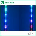 o dmx ativado RGB da música conduziu a luz do meteoro dos tubos 3D para o clube, iluminação de fase
