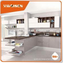 La fábrica caliente de la venta unassembled directamente los gabinetes de la cocina
