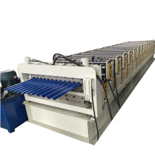 GEI 1000mm feeding width double layer roll forming roof wall tile making machines China machinery