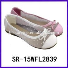 El ocio vendedor caliente de las muchachas 2015 calza los zapatos coreanos de la muchacha de los zapatos dulces de la muchacha