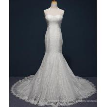Vestido de boda nupcial del cordón de la sirena