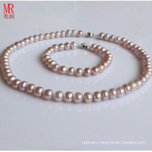 7-8mm Lavender Freshwater Pearl Jewelry Set