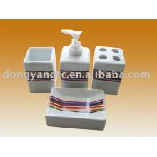 Accesorios para baño de cerámica hotel 4 PCS, accesorios de baño porcelana
