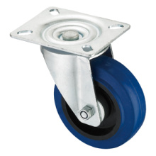 Middle Duty Series Caster - Swivel - Blue Elastic Rubber (rolamento de rolos)