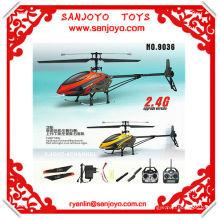 Helicóptero del helicóptero 4ch rc de la cámara del vuelo con la sola cuchilla del girocompás 2.4G