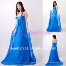 Astergarden Real Photo Sans bretelles Beading Longueur de plancher Bleu Robe de soirée AS156