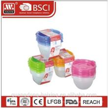 Пластиковый микроволновой продовольствия контейнер 0.89L(4pcs)