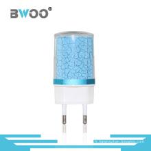 Chargeur de voyage USB Fashion EU 2 pour téléphone portable