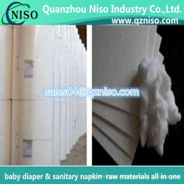 Matérias primas americanas da polpa do fluff do farol para o tecido do bebê e o guardanapo sanitário