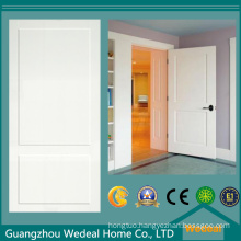 Two Panel White Primed MDF/HDF Door for Hotel Project