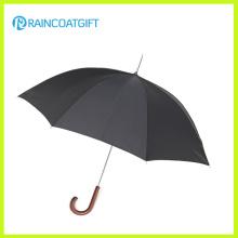 Hohe Qualität Anti Wind Holz Gerade Regenschirm