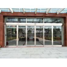 Porta deslizante dobro de vidro de aço inoxidável automática