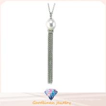 Joyería de la manera de la alta calidad para la joyería de la plata esterlina de la mujer 925 Zirconic cúbico y collar de la perla de Shell (N6664)