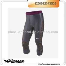 Nuevo diseño que absorbe el sudor dri-fit compresión hombres corriendo pantalones 2013