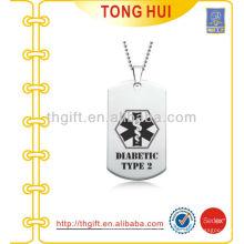 Printing Logo Silber Hund Tag Halskette Anbieter Nachahmung Schmuck