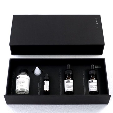 Black matte skin care cosmetic box