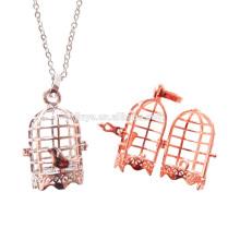 Fashion Long Bird Cage Locket Diffuser Necklace