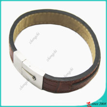 Bracelet en cuir véritable marron (LB)