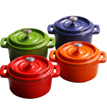Grünes Email Gusseisen-Küchenzubehör von Mini Casserole / Topf