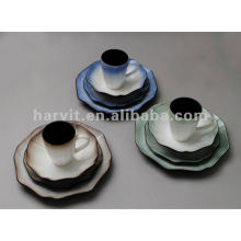 stoneware 16pc reactive glaze dinnerware set