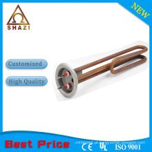 Elemento de aquecimento tubular de aço inoxidável Flange