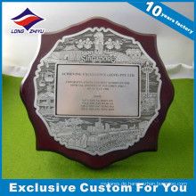 Antikes Silber Carving Runde Medaille Holzschild Home Decoration