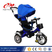 Schieben Sie Energiekinderdreiradfahrradspielwaren / Metallrahmen trike Fahrrad für Kinder / Fabrikgroßes preiswertes Dreirad für Baby
