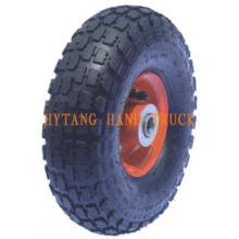 Gummi-Rad-3.50-4 Stahl Felge