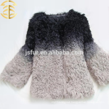 New Design Colorful Animal Fur Coat For Women And Girls Sheep Fur Coat
