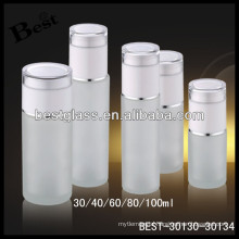 100ml frosted glass cosmetic bottle supplier, cosmetic glass bottle, skin care glass lotion bottle