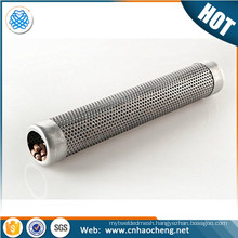 Durable stainless steel perforated smoke tube for outdoor barbecue