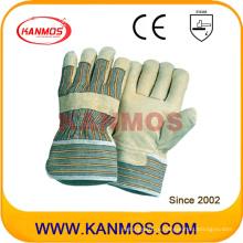 Желтая свинцовая кожаная рабочая перчатка (22001)