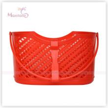 22.5*12*32cm Plastic Square Storage Basket with Handle