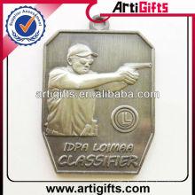 3d design metal shooting sports medal