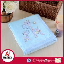 Animal printed micro mink fleece baby products blanket back sherpa fleece blanket