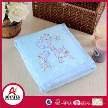 Tier gedruckt Mikro Nerz Fleece Baby Produkte Decke zurück Sherpa Fleecedecke