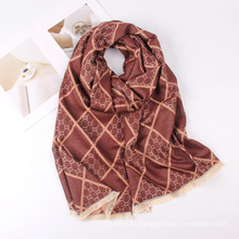 High Quality Women Luxury Design Winter Cashmere Warm Shawls Double Sided Blanket Wraps Scarves